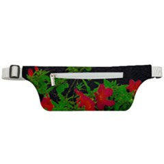 Dark Pop Art Floral Poster Active Waist Bag