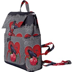 Wonderful Crow On A Heart Buckle Everyday Backpack by FantasyWorld7
