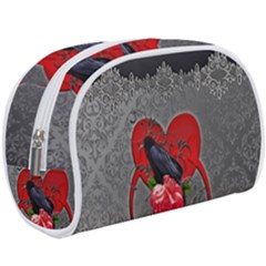 Wonderful Crow On A Heart Makeup Case (large)