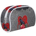 Wonderful Crow On A Heart Makeup Case (Large) View1