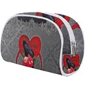 Wonderful Crow On A Heart Makeup Case (Large) View2