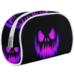 Purple Evil Pumpkin Makeup Case (large) by goljakoff