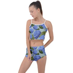 Hydrangea  Summer Cropped Co Ord Set by Sobalvarro
