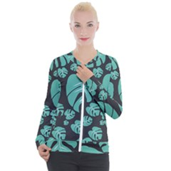Leaves Casual Zip Up Jacket