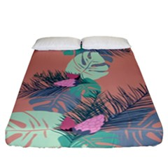Leaves Fitted Sheet (california King Size) by Sobalvarro