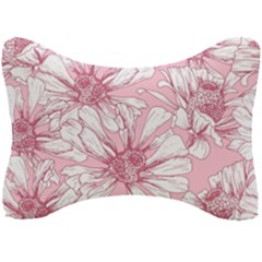 Pink Flowers Seat Head Rest Cushion by Sobalvarro