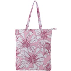 Pink Flowers Double Zip Up Tote Bag by Sobalvarro