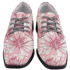 Pink Flowers Women Heeled Oxford Shoes by Sobalvarro