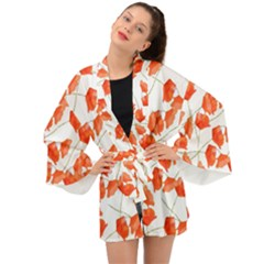 Coquelicottexture Long Sleeve Kimono by kcreatif