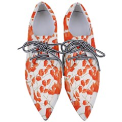 Pattern Coquelicots  Women s Pointed Oxford Shoes
