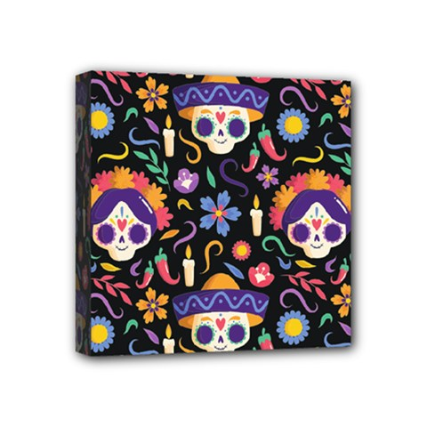 Dia De Los Muertos Mini Canvas 4  X 4  (stretched) by Sobalvarro
