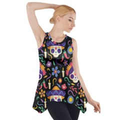 Dia De Los Muertos Side Drop Tank Tunic by Sobalvarro
