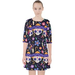 Dia De Los Muertos Pocket Dress