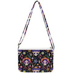 Dia De Los Muertos Double Gusset Crossbody Bag by Sobalvarro
