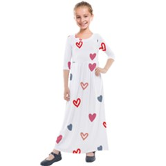 ? Pattern  Kids  Quarter Sleeve Maxi Dress by Sobalvarro