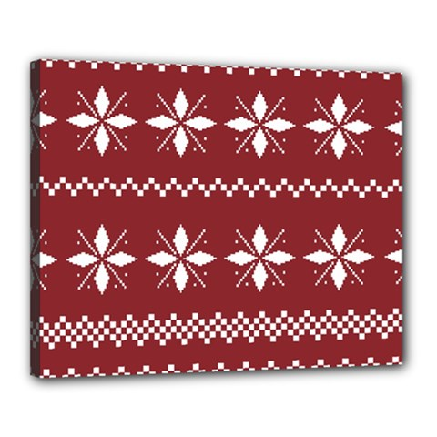 Christmas Pattern Canvas 20  X 16  (stretched) by Sobalvarro