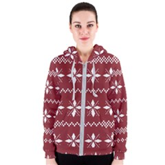 Christmas Pattern Women s Zipper Hoodie by Sobalvarro