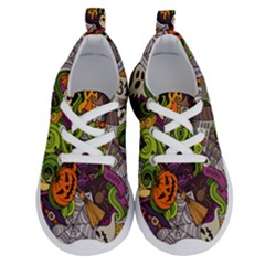 Halloween Doodle Vector Seamless Pattern Running Shoes by Sobalvarro