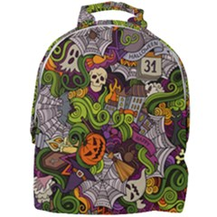Halloween Doodle Vector Seamless Pattern Mini Full Print Backpack by Sobalvarro