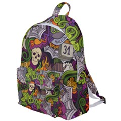 Halloween Doodle Vector Seamless Pattern The Plain Backpack by Sobalvarro