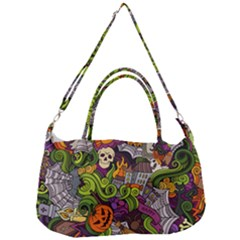 Halloween Doodle Vector Seamless Pattern Removal Strap Handbag by Sobalvarro