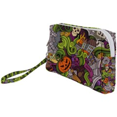 Halloween Doodle Vector Seamless Pattern Wristlet Pouch Bag (small) by Sobalvarro
