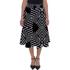 Formes Geometriques Etoiles/carres Perfect Length Midi Skirt by kcreatif