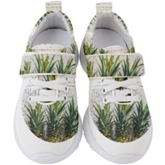 Summer Pineapples Kids  Velcro Strap Shoes by goljakoff