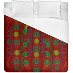 In Time For The Season Of Christmas Duvet Cover (king Size) by pepitasart