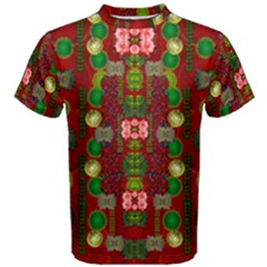 In Time For The Season Of Christmas An Jule Men s Cotton Tee by pepitasart
