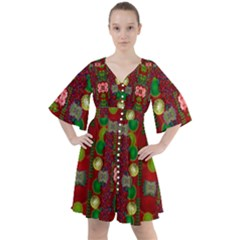 In Time For The Season Of Christmas An Jule Boho Button Up Dress