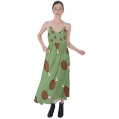 Turkey Leg Pattern - Thanksgiving Tie Back Maxi Dress