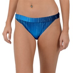Abstract Rain Space Band Bikini Bottom