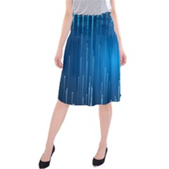 Abstract Rain Space Midi Beach Skirt
