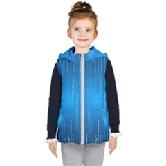 Abstract Rain Space Kids  Hooded Puffer Vest