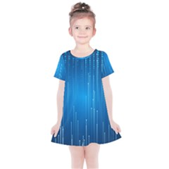 Abstract Rain Space Kids  Simple Cotton Dress