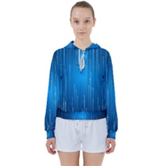 Abstract Rain Space Women s Tie Up Sweat