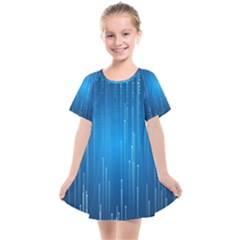 Abstract Rain Space Kids  Smock Dress
