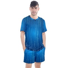 Abstract Rain Space Men s Mesh Tee And Shorts Set
