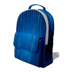 Abstract Rain Space Flap Pocket Backpack (large)