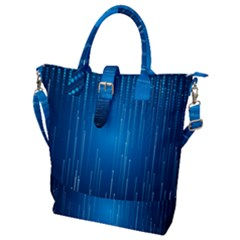 Abstract Rain Space Buckle Top Tote Bag