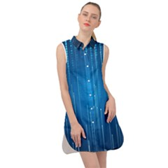 Abstract Rain Space Sleeveless Shirt Dress by HermanTelo