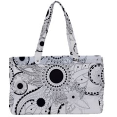 Floral Design Canvas Work Bag