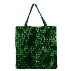 Abstract Plaid Green Grocery Tote Bag