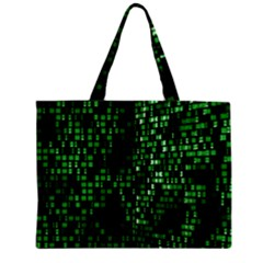 Abstract Plaid Green Zipper Mini Tote Bag