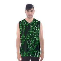 Abstract Plaid Green Men s Sportswear