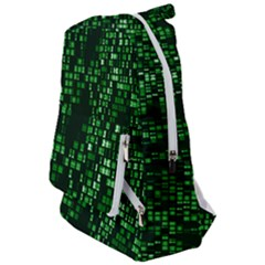 Abstract Plaid Green Travelers  Backpack