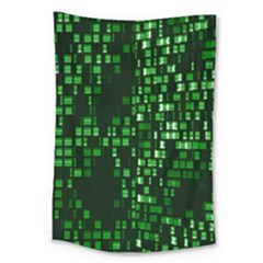 Abstract Plaid Green Large Tapestry