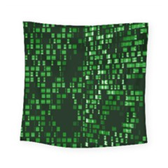 Abstract Plaid Green Square Tapestry (small)