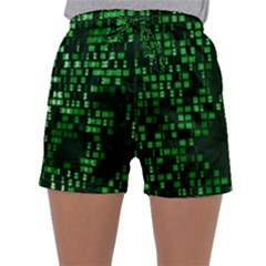 Abstract Plaid Green Sleepwear Shorts